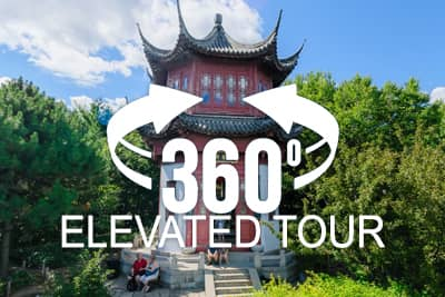 Montreal's Botanical Garden Elevated 360 Virtual Tour - China Garden