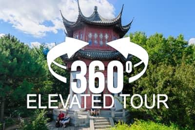 Montreal's Botanical Garden Elevated 360 Virtual Tour - China Garden