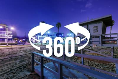 Venice Beach, CA 360 panorama at night