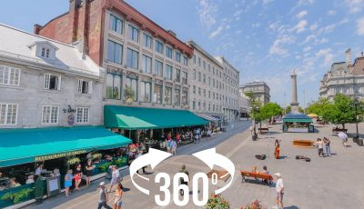 360 panorama: Place Jacques Cartier (Montreal)